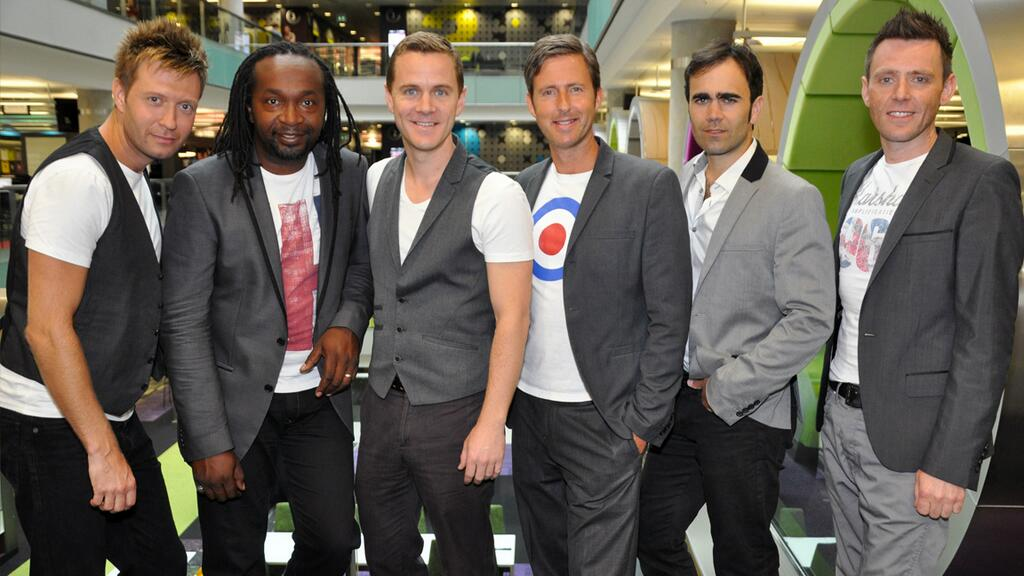 The guys just before performing on BBC Breakfast