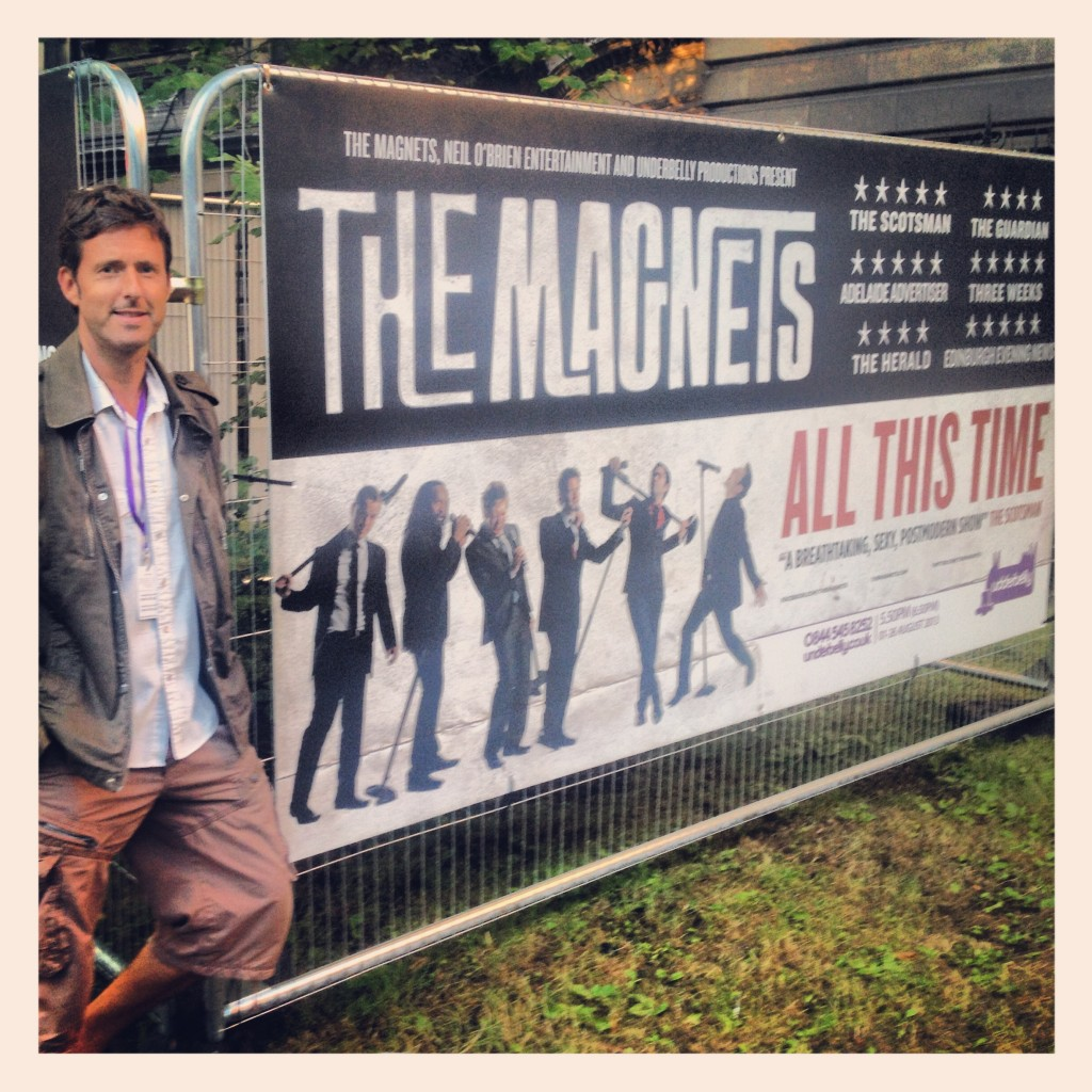 Steve with one of The Magnets posters