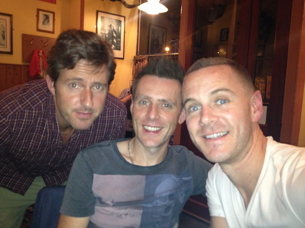 Steve, Cal and Nic at the cast party..